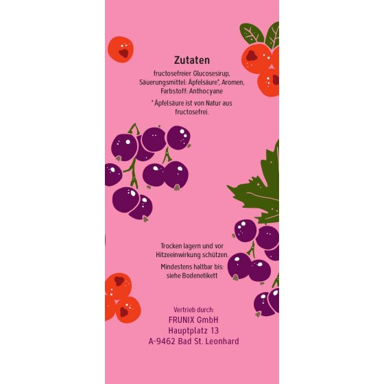 Johannisbeere-Cranberry - Fruchtbonbons ohne Fructose, 90g